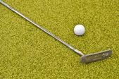 Mini-golfe dentro interior — Fotografia Stock