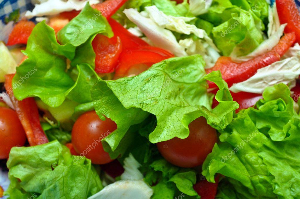 Салат с зелеными перцами