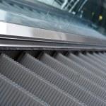 Close up of escalator steps — Stock Photo
