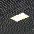 Stock Photo: Ceiling with white square lamps