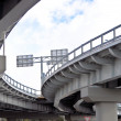 Stock Photo: Automobile overpass. bottom view