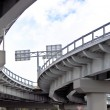 Automobile overpass. bottom view — Stock Photo