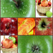 Photo collage fall apples. — Stock Photo