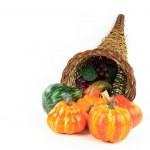 Symbols of Thanksgiving Day - horizontal orientation. — Stock Photo