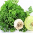 Royalty-Free Stock Photo: Parsley, Garlic and kohlrabi.