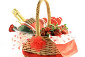 Valentines Day Basket - side view. — Stock Photo