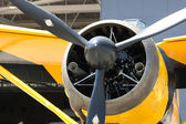 Army Co-operation single engine Westland Lysander III aircraft, front part — Stock Photo