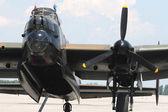 Avro Lancaster bomber. Front wiev. — Stock Photo