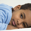 Boy resting in his bed — Stock Photo #4685131