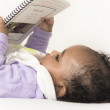 Baby reading book — Stock Photo #4853695