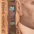 Portrait of Sir Robert Borden on 100 dollar bill — Stock Photo #5079906