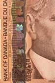 Porträtt av sir robert borden på en 100-dollarsedel — Stockfoto