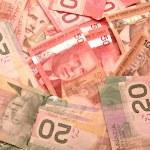 Canadian dollar notes — Stock Photo