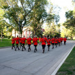 RCMP sunset retreat ceremony — Stock Photo