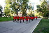 RCMP sunset retreat ceremony — Stock fotografie