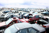 Auto junkyard — Stock Photo