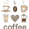 iconos de café — Vector de stock