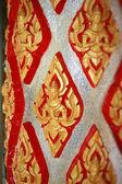 Column in a Buddhist temple — Stock Photo