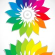 Abstract flower colors of the rainbow - Stock Vector