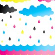 Rain of paint — Stock Vector