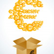 Royalty-Free Stock Vector Image: Box with euro