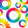 Stock Vector: Bright gears of different colors