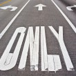 Stock Photo: Pavement markings