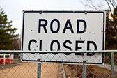 Strada chiusa segno — Foto Stock