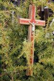 Kors med jesus-figur — Stockfoto