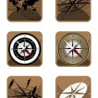 Royalty-Free Stock Vector Image: Compass and Map Icons
