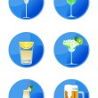 Alcoholic Drink Icons — Stock Vector