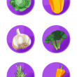 Veggie Icons — Stock Vector