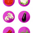 Royalty-Free Stock Vector Image: Veggie Icons