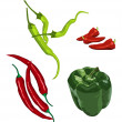 Peppers — Stock Vector #4751984