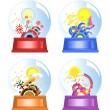 Season Globes - Stock Vector
