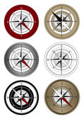 Compass Icons — Stock Vector