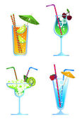 Alcoholic Drinks — Stock Vector