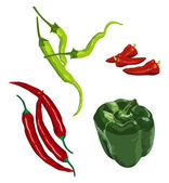 Peppers — Stock Vector