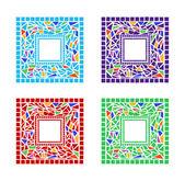 Mosaic Frames — Stock Vector