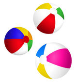 Beach Balls — Stock Vector