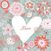 Postcard Happy Valentine's Day — 图库矢量图片
