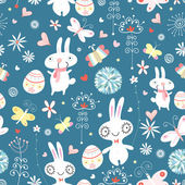 The texture of the Easter bunnies — Stock Vector