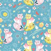 Wzór z miłośników kotów — Wektor stockowy