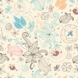 Vetorial Stock : Retro floral pattern