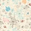 retro blommigt mönster — Stockvektor