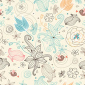 Retro floral pattern — Stockvector