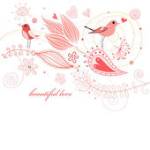 Natural card of love — Stock Vector