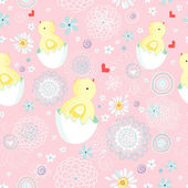 Easter chicks texture — Stock Vector