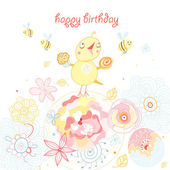 Greeting cards birthday — Stock Vector