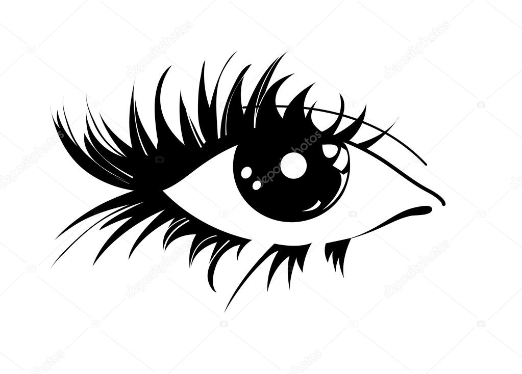 Black graphic eye on a white background — Stock Vector #5208341